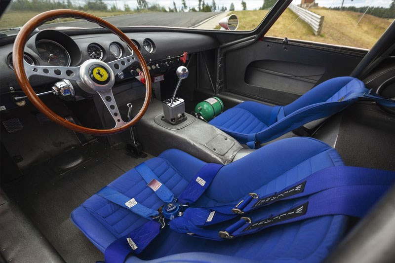 250 gto up for auction again interior