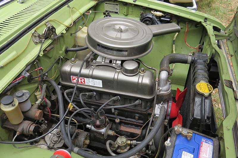 toyota corona engine bay