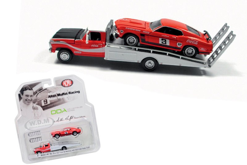 model car and trailer