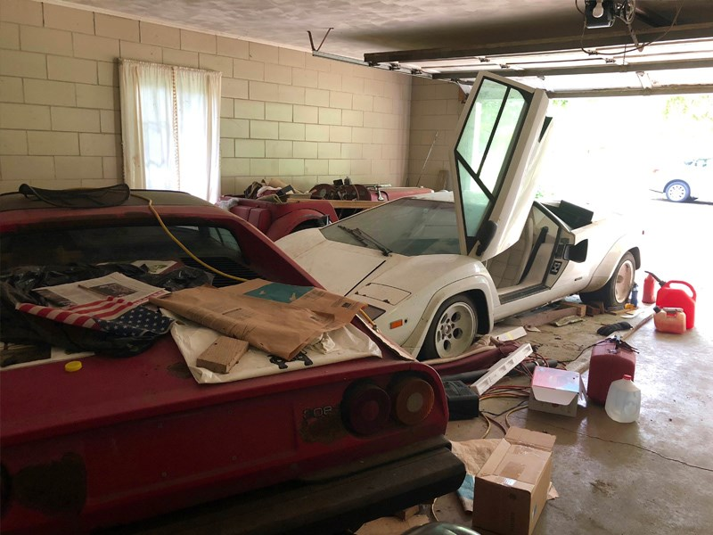 BARN FIND Countach and 308