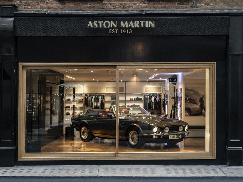 Aston Martin Heritage window