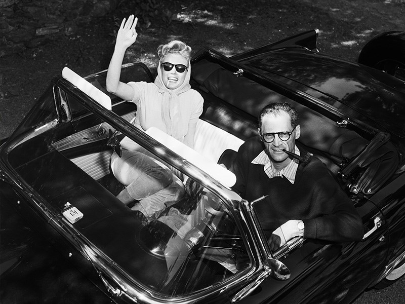 Marilyn Monroe ford thunderbird and arthur