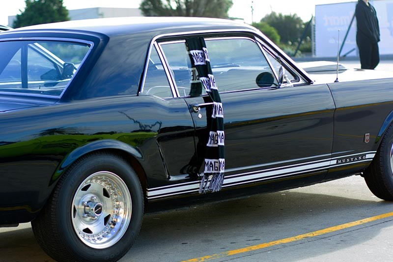 ford mustang black side
