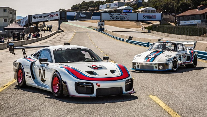 Porsche 935 new and old