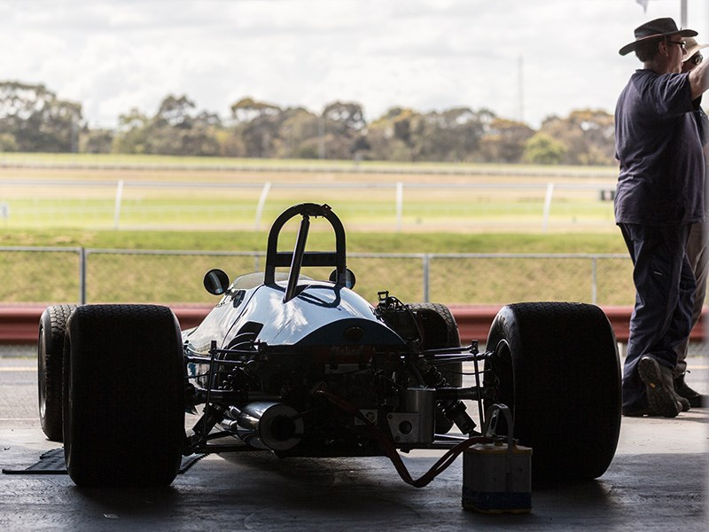 VHRR Sandown Historics Openwheeler rear