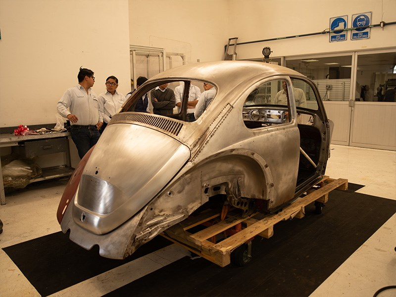 Annie the Beetle restoration shell