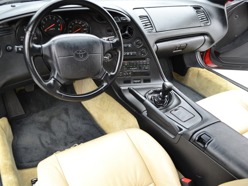Toyota Supra sells for 170k interior