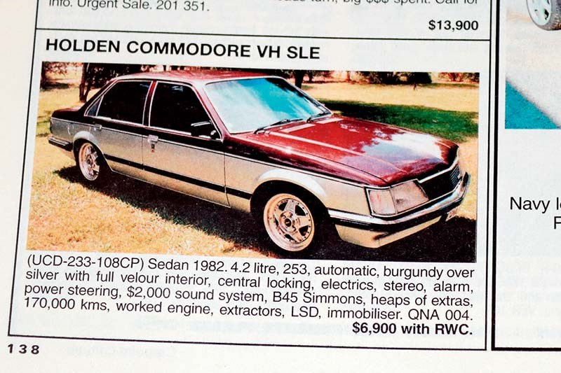 holden commodore sle