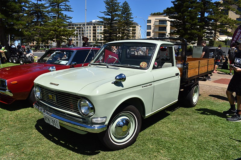 All Japan Day Datsun ute front