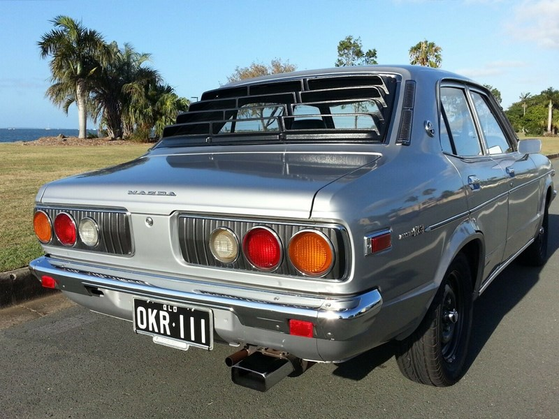 Mazda RX3 rear quarter