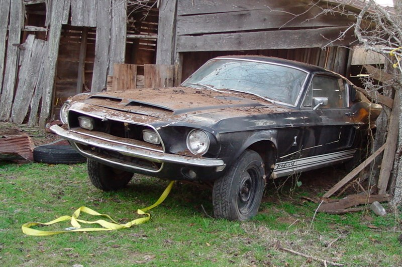 GT500 barn find barn rescue