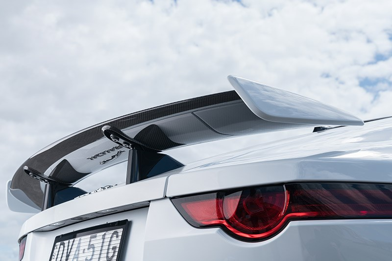 jaguar f type svr rear wing