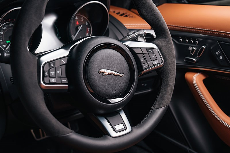 jaguar f type svr steering wheel