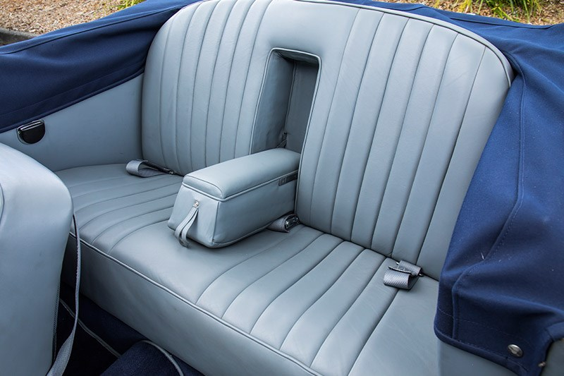 alvis drophead coupe rear seat