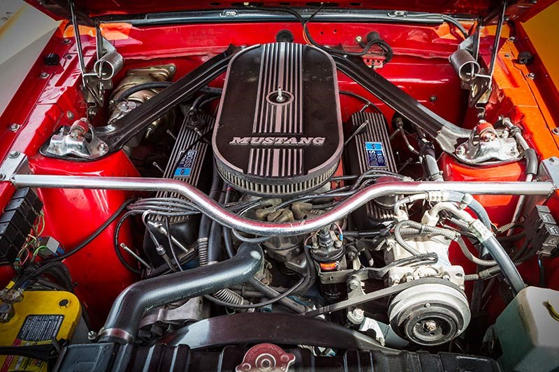 ford mustang mach 1 engine bay