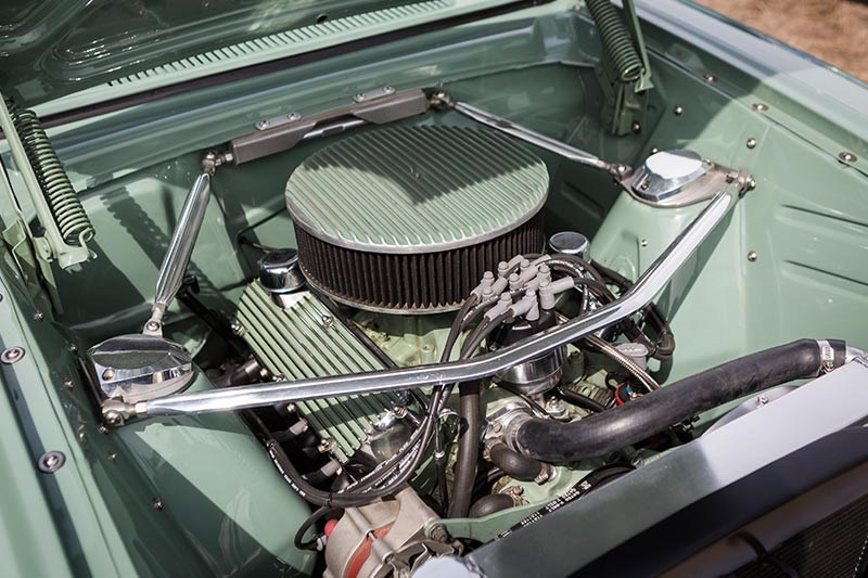 ford xp falcon panelvan engine bay