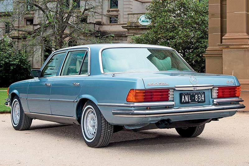 mercedes benz 450 sel rear