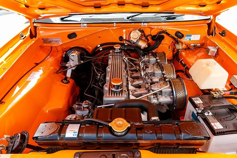 valiant charger engine bay