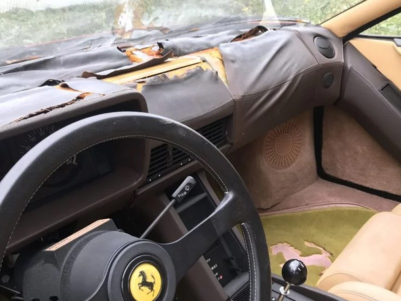Abandoned Ferraris interior torn