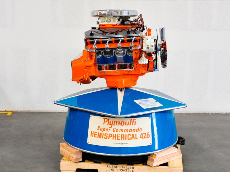 Chrysler display engine Plymouth Hemi super commando