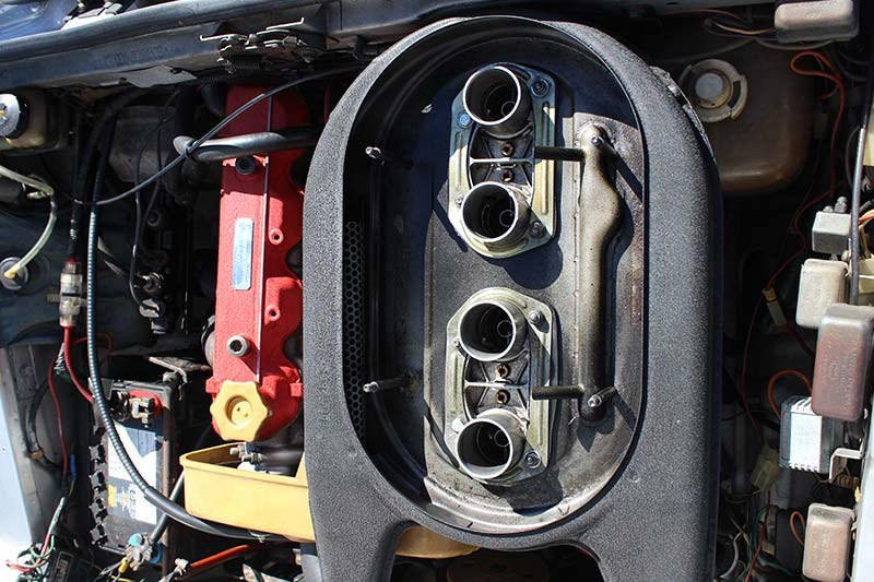 fiat 124 engine bay