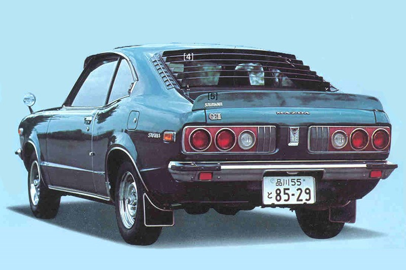 mazda rx3 press shot rear