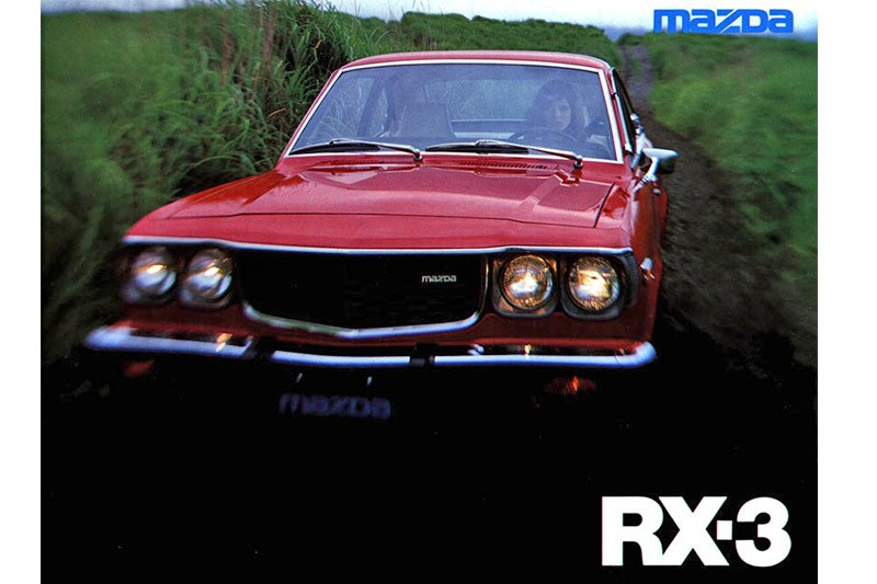 mazda rx3 press shot