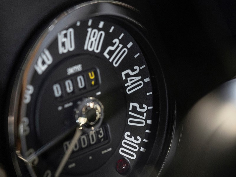 Aston Martin Cenenary Collection interior gauge