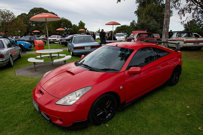 Toyota Winterfest Celica red
