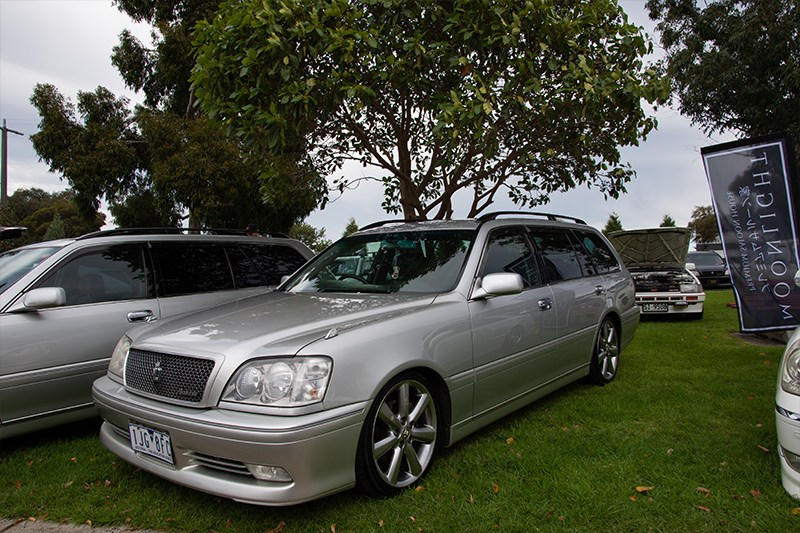 Toyota Winterfest Crown wagon silver