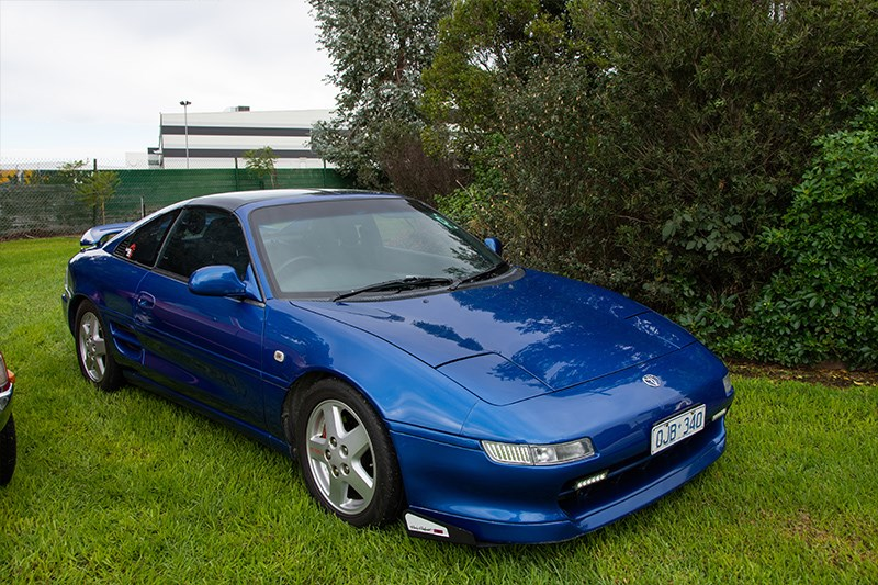 Toyota Winterfest MR2 SW20 blue