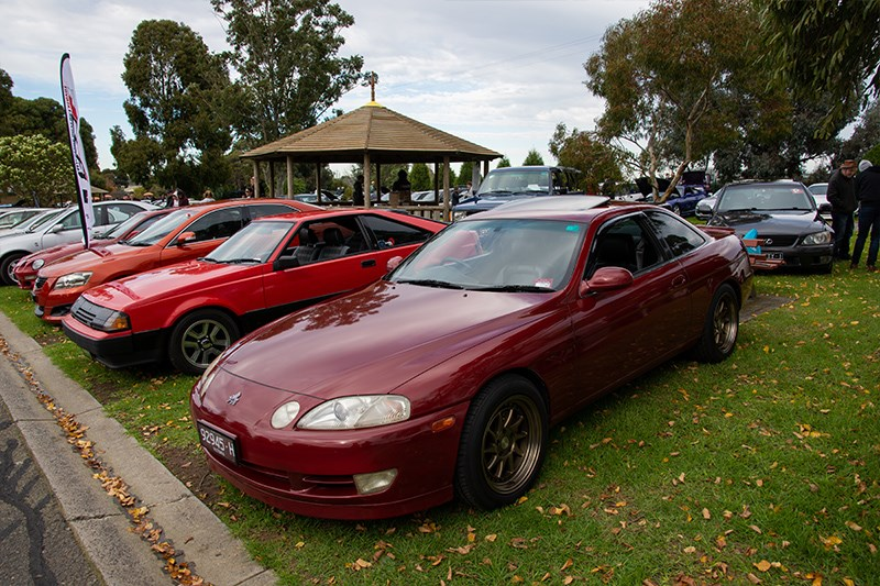 Toyota Winterfest Soarer red