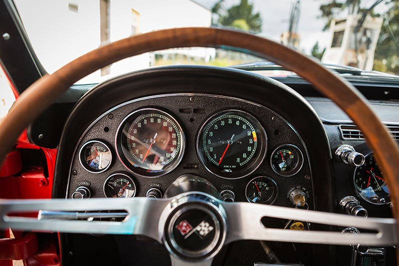 corvette c2 gauges