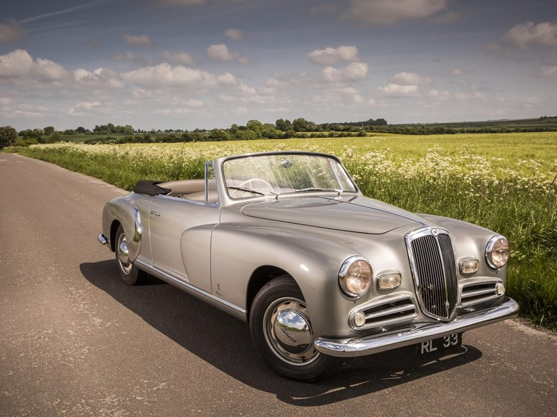 Lancia Aurelia for sale front quarter shoot