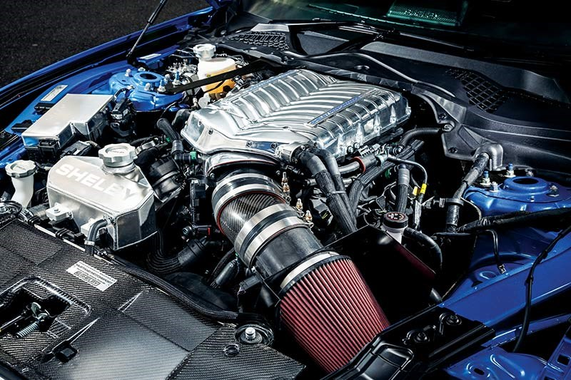 shelby super snake engine bay