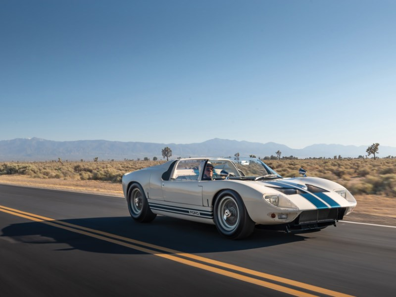 GT40 roadster for auction front rolling