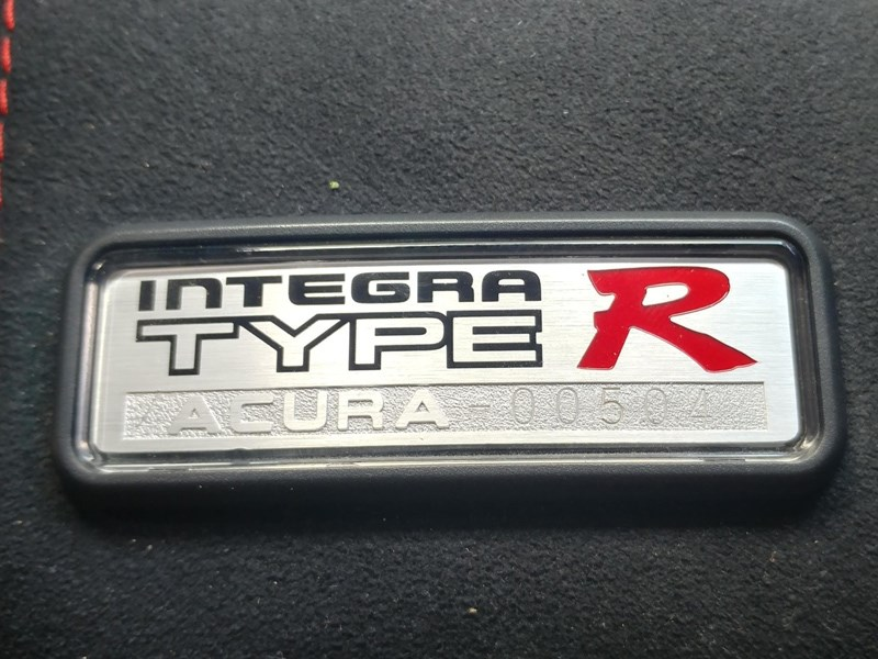 DC2 Integra record interior plaque
