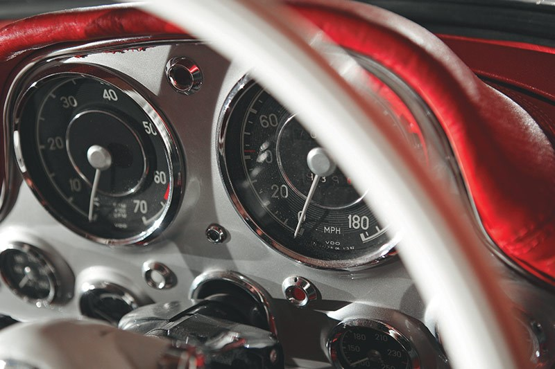mercedes benz 300sl gauges