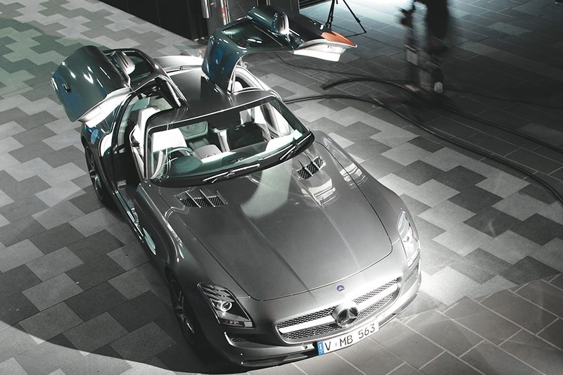mercedes benz sls amg top
