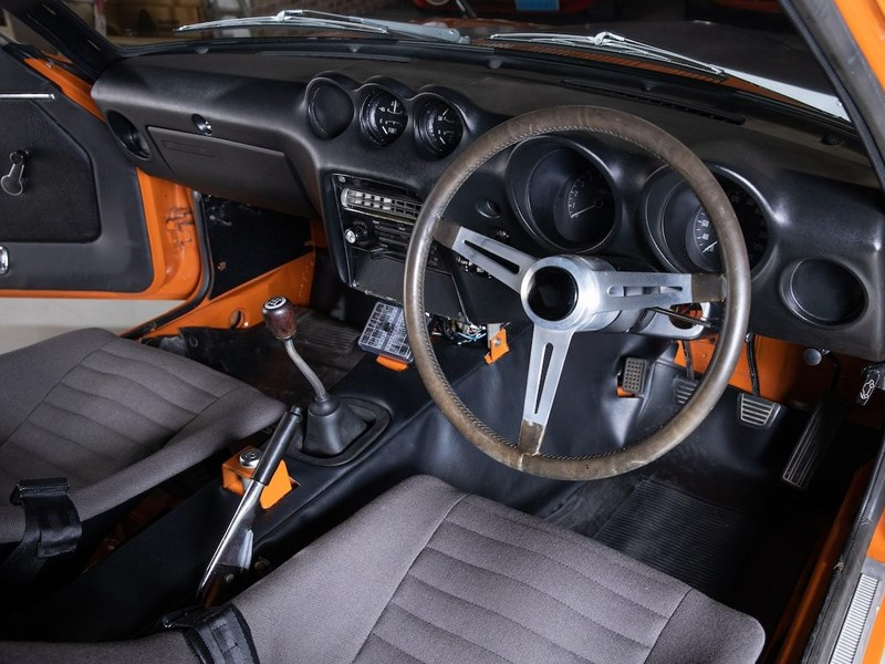 Datsun Z432R for auction interior