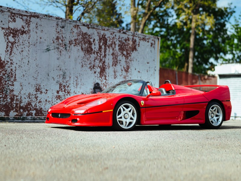 First Ferrari F50 front side