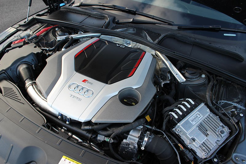 audi rs5 dash engine bay