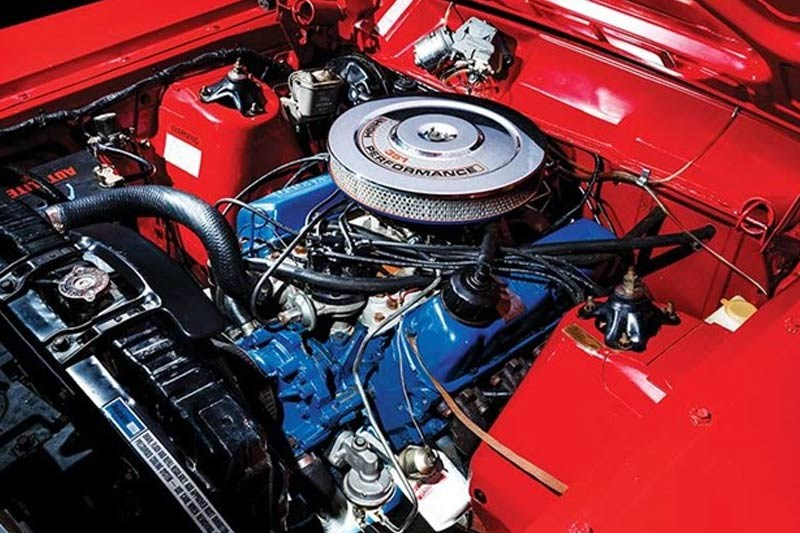ford falcon gtho phase i engine bay