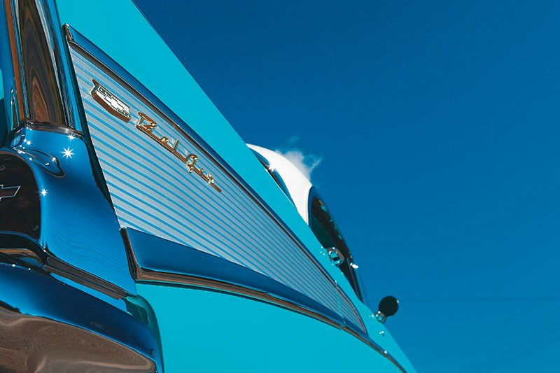 chev bel air fin