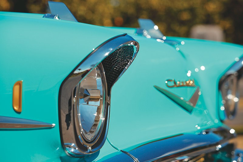 chev bel air headlight