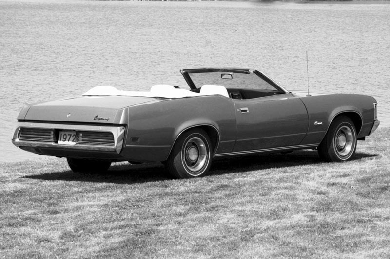 mercury cougar convertible rear