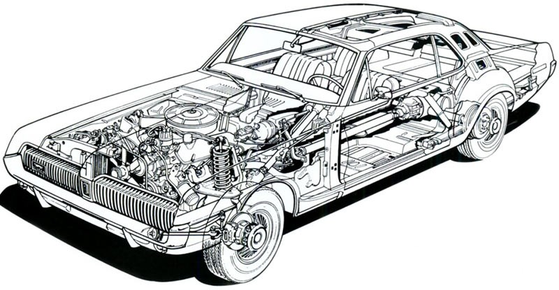 mercury cougar diagram