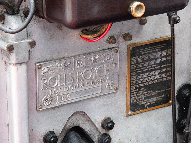 1927 Rolls Royce Lorbek engine plaque