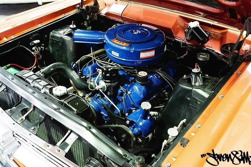 ford fairlane 500 engine bay