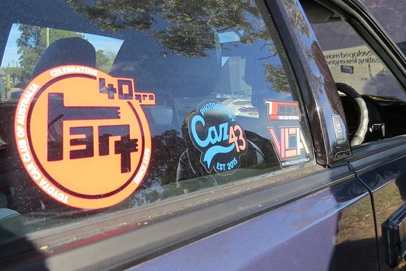 toyota celica stickers